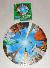 "Legendary Landmarks 19"" Round Table Jigsaw Puzzle 500 Pieces Statue of Liberty"