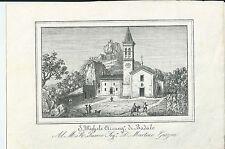 1851 SAN MICHELE ARCANGELO DI BADALO Badolo Sasso Marconi Bologna lito E. Corty