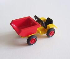PLAYMOBIL (T4126) FERME - Tracteur Jaune avec Benne Basculante Rouge pour Enfant
