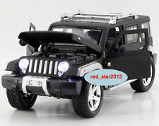 Model Toy 1/32 Diecast Car Alloy Black Jeep Wrangler Vehicle Car W/light&sound