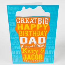 DAD BIRTHDAY CARD - Dad, Grandad, Stepdad, Beer, Personalised, Add Your own Name