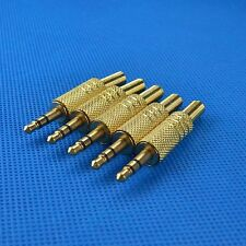 "10pcs 3.5mm 1/8"" Stereo Male Audio TRS Jack Plug Adapter Connector Gold Plated"