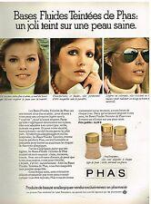 Publicité Advertising 1974 Cosmétique Les crèmes fond de Teint PHAS