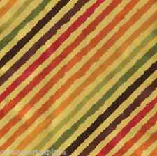 CASPARI 2 / 5 ft Continuous Rolls Rainbow Stripe Gold Gift Wrap / Wrapping Paper