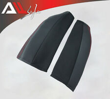 K06APO Black Side Support Pad Racing Car Seats Bride Red Stitch Set Protector