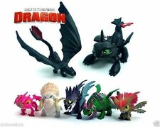 How To Train Your Dragon Toothless Figurine PVC Figure Play Set 7pcs Playset
