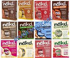 Nakd Fruit & Nut Bars Mixed Case Selection 48 Bars *Vegan, Raw, Wheat Free*