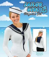 Sailor Kit Hat & Scarf Instant Kit Women  Men Navy Fancy Dress Accessory Unisex