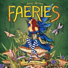 Amy Brown Faeries 2014 Calendar Fairies Faery New Sealed In Stock ready to ship