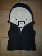 Women's Hollister Navy Blue Padded Hooded Gilet Zip Jacket Size S Small