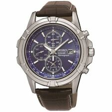 MENS BRAND NEW SEIKO SOLAR POWERED CHRONOGRAPH WATCH SSC141P2 WATCH £250