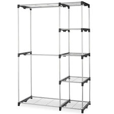 Closet Organizer Storage Rack Portable Clothes Hanger Home Garment Shelf Ro