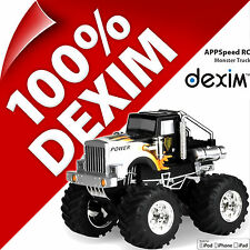 Nuovo Dexim Appspeed Monster Truck Radiocomando per Apple iPhone 4/4S iPad