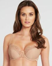 PANACHE Size 30D Nude Melody Underwired Balcony Embroidered Balconette BRA New