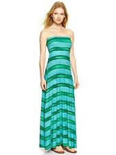 NEW GAP GREEN AND BLUE STRIPED 4 IN 1 MAXI DRESS SZ M MEDIUM