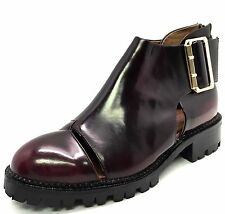 Women's Burgundy Leather Jeffrey Campbell Ankle Boots Size 6M ^