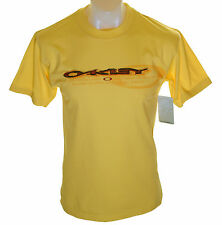 Bnwt Hommes Oakley Doublé T Chemise Neuf Taille S Jaune Neuf