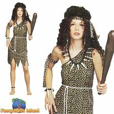 FLINTSTONE CAVEWOMEN STONEAGE BABE Size 10-14 womens ladies fancy dress costume