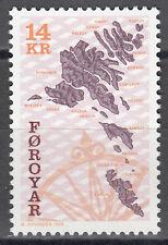 Føroyar / Färöer Nr. 347** Landkarte (Faroe Islands map)
