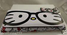 Hello Kitty nerd glases white black  wallet Sanrio bow id Claire's exclusive