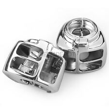 Chrome Switch Housings Cover Trims Pair For 96-06 Harley Dyna V-Rod Touring ND