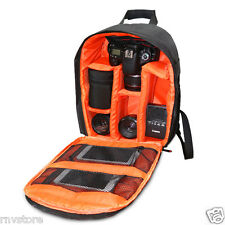 Indepman DSLR Camera Bag, Adjustable Accesories Storage Backpack (Orange)