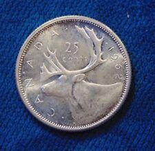 1962 CANADA .800 silver quarter dollar twenty five 25 cents cent piece GEM BU B