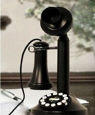 Black Candle Stick Phone Antique Rotary Telephone Vintage Old Collectors Gift