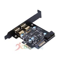 PCI-E to USB 3.0 5V 2A 2 Port PCI Express Expansion Card 19-Pin Power Connector