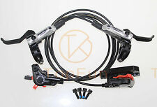 SHIMANO Deore M615 MTB Hydraulic Disc Brake Set Front & Rear Black