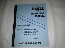 DoAll Instruction Manual Band Sawing Machine Model: 26-3, 60-3
