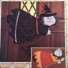 Whimsy Witch Sewing Pattern Kitchen Patch Press Vtg 80s Halloween Decoration