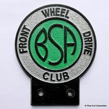 Vintage Car Badge - BSA Front Wheel Drive Club - Birmingham Small Arms Co