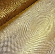 Gold Metallic Soft  Mesh Net Fabric Fairy Material 150 cm Wide-Sold Per Metre
