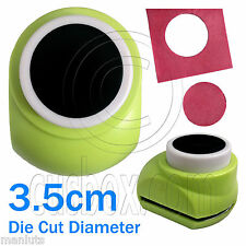 Big Circle Hole Dot Round Paper Scrap Craft Punch Scrapbooking Die Cut 3.5cm New