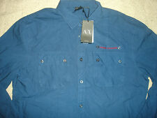 Armani Exchange Men's Casual Shirt- Navy - Size L BNWT