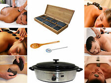Sivan Health and Fitness Basalt Lava Hot Stone Massage Set with 6 Quart Warmer