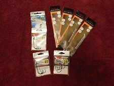 Lot of 8 pkgs Assorted Fishing Accessories hooks snelled rig weighted outdoor