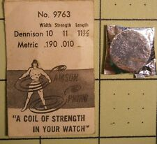 SAMSON SPRING Watch Mainspring No 9763 Dennison 6 X 9 - 11 1/2 Metric .190 .010