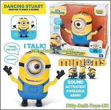 NEW Minions Movie Talking Toy Figure Dancing Stuart Interactive Despicable Me