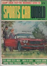 Sports Car World 1964 Jun MASERATI MGB AUSTIN HEALEY Type 57 Bugatti Sebring SCW