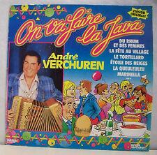 """33 tours André VERCHUREN Disque LP 12"""" ON VA FAIRE LA JAVA - CARRERE 66767 RARE"""