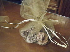 Hand Dipped  Scented Pinecone Fire Starters - 10 Pieces - Fireplace Campfire