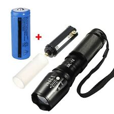 Tactical CREE X800 Gladiator Flashlight XM T6 Torch 18650 Rechargeable Battery