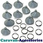 10 x Suction Disc Thermal Screen Internal Silver Camper Blinds Cab Suckers