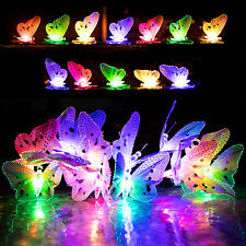 12x New LED Solar Butterfly Colorful String Fairy Lights for Outdoor Patio Yard