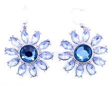 Pretty crystal sunflower / daisy / flower dangle earrings