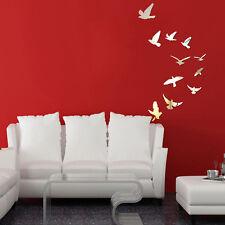11tlg 3D Vögel Wandtattoos Wandsticker Wandaufkleber Spiegel Haus Zimmer Deko