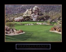 INSPIRATIONAL ART PRINT Perseverance Golf Motivational