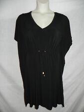 CALVIN KLEIN BLACK DRESS WOMENS SIZE 4 CD1A1UH3 DRAWSTRING WAIST NWT